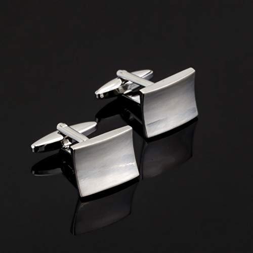 jiao Manschettenknopf aus gebürstetem Edelstahl für Herrenhemd Markenanzug Manschettenknöpfe Manschettenknöpfe Schmuck