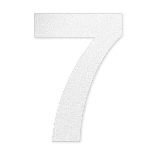 Número 7 en decoración de cristal, altura 10 cm, autoadhesivo, número de...