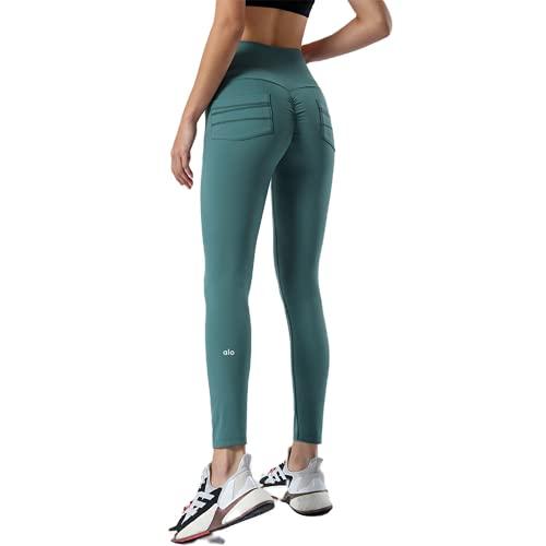 QTJY Pantalones de Yoga con Levantamiento de Cadera de Cintura Alta para Mujer Sexy, Mallas de Fitness Push-up Impresas, Pantalones para Correr de Gimnasia G X-Large