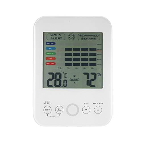 Yinuneronsty ermometer Hygrometer Digitalanzeige Schimmelige Anzeige Komfortanzeige