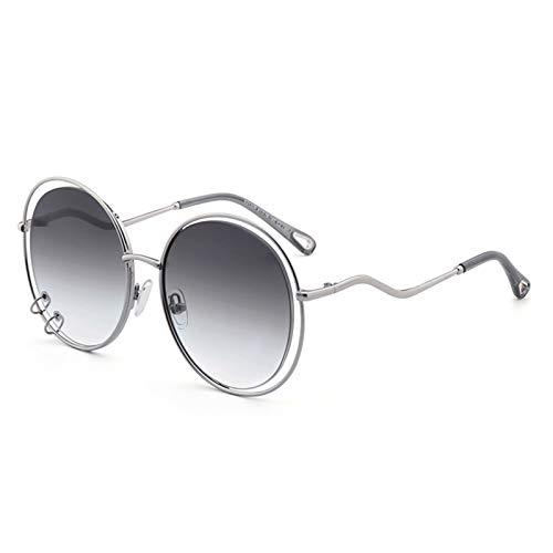 LDH Rectángulo Sin Marco de Gafas de Sol para Hombre, Gafas de Sol Ultraligero de Moda, Templos Creativos de Metal, Protección contra El Aire Libre Gafas de Sol Al Aire Libre