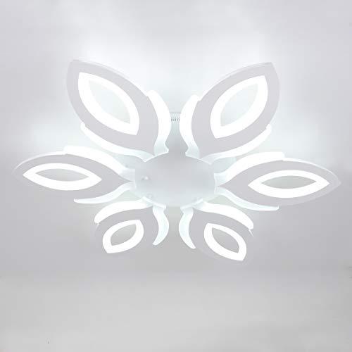 Plafoniera LED, Ganeed Lampada da soffitto in acrilico da 90W, illuminazione moderna con lampadario a LED a fiori per soggiorno, camera da letto, sala da pranzo, bianco freddo / 6500K