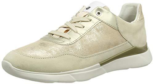 Geox Damen D Hiver A Sneaker, Beige (Sand C5004), 38 EU