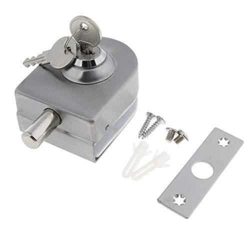 Shiwaki Türschließsystem Aus Edelstahl Mit 2 Schlüsseln Für Gehärtetes/Gehärtetes Glas