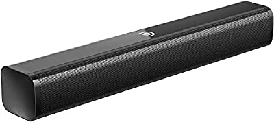 ABOX 2.1 Channel Soundbar & Subwoofer Surround Sound, 120W RMS, Bluetooth 4.2 Device Streaming + EDR Speaker System, Optical, Coaxial, AUX, USB, Wall Mountable (Optical cable Included) from ABOX