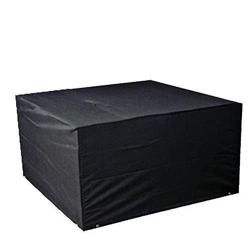 FCZBHT Couverture de Meubles Rectangle De Plein Air Jardin Housse De Protection, Imperméable Anti-UV Garde poussière (Couleur : Noir, Taille : 140 * 140 * 75cm)