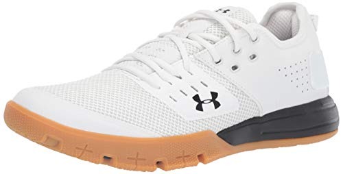 Under Armour Men's Charged Ultimate 3.0 Sneaker, Onyx White (102)/Black, 7 M US