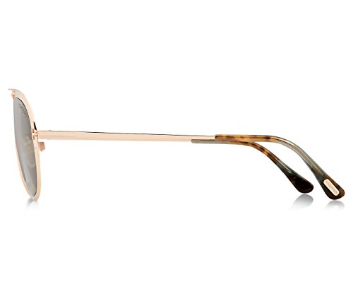 Tom Ford Unisex Adults' FT0508 28N 53 Sunglasses, Gold (Oro Rosa Lucido/Verde)