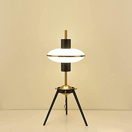 WRISCG Table Lamps Luxury Desk Lamp White Glass Wrought Iron Desk Lamp Hotel Simple Living Room Nordic Decorative Table Lamp 35 * 65cm