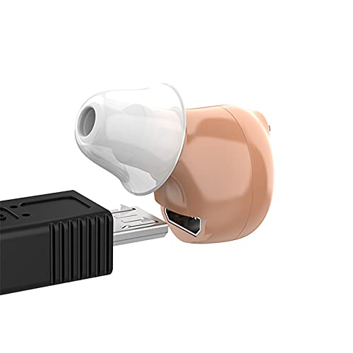 FR&RF Audífonos de CIC audífonos audífonos audífonos Recargables audífonos sordos Recargables Mini Amplificador de audición para los Ancianos
