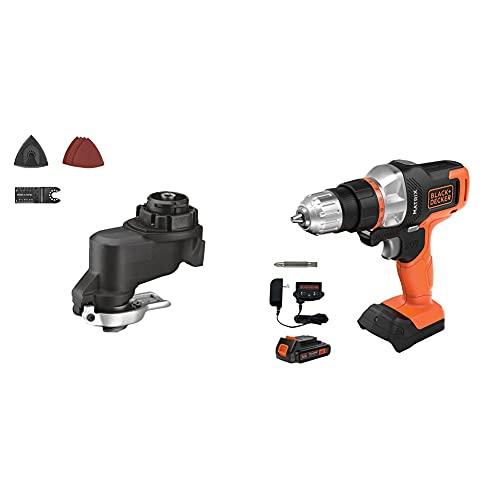 BLACK+DECKER Matrix Oscillating Tool Attachment with 20V MAX Matrix Cordless Drill/Driver (BDCMTO & BDCDMT120C)