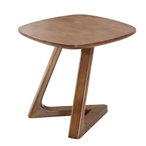 Tables basses Petite Canapé en Bois Massif Coin Quelques Tables Table De Chevet Balcon Cadeau (Color : Brown, Size : 50 * 50 * 48cm)