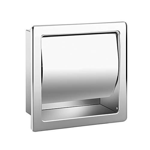 Jieer Toilettenpapierhalter Aus Edelstahl Für Badezimmer Eingebetteter Toilettenpapierhalter Unterputz