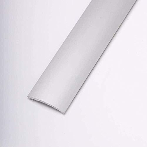 Dicar PLETINA PERFILADA Media CAÑA Adhesivo 83CM Aluminio Plata Media CAÑA