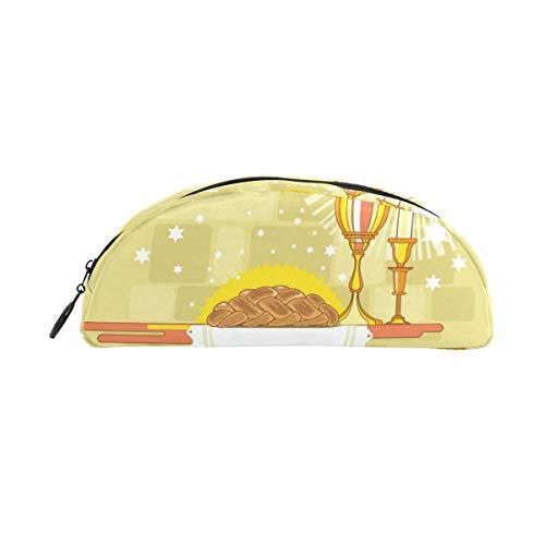 Happy Shabbat Challah Brot Schulstifteetui, für Kinder, große Kapazität, für Make-up, Kosmetik, Büro, Reisetasche