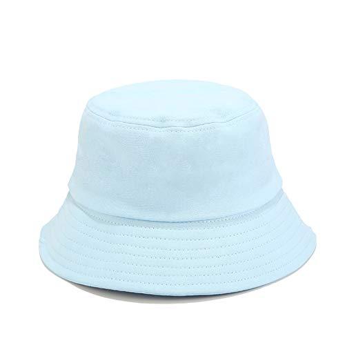 DORRISO Moda Mujer Sombrero de Sol Visera Protección UV Turismo Playa Vacaciones Visera Linda Sombrero Algodón Azul