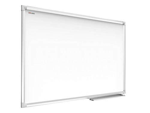 ALLboards Lavagna Bianca Magnetica con Cornice in Alluminio 90x60cm Scrivibile e Cancellabile a Secco, a Parete