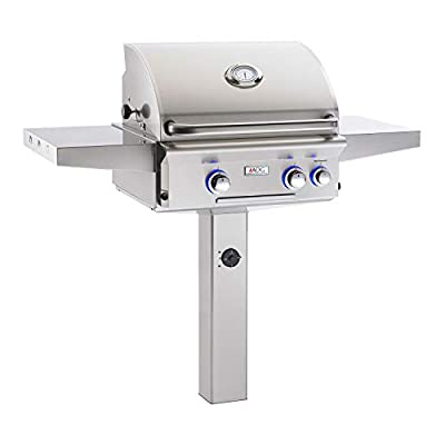 AOG American Outdoor Grill 24NGL L-Series 24 inch Natural Gas Grill On in-Ground Post Rotisserie