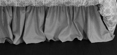 Review Of La Mode Couture Dust Ruffles/California King Bed Skirt/Ruffled Bed Skirt/Grey Bed Skirt 10...