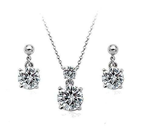 HMANE Moda Austria Cristal Pendientes Collar Conjuntos de Joyas Vestido de Novia...