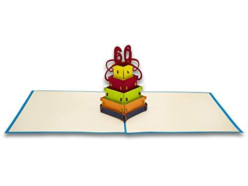Tarjeta de felicitación con diseño de Origami, 60 años