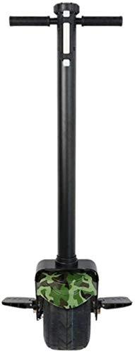 UYZ Scooter eléctrico para Adultos, Monociclo eléctrico, 10 800W con función de aplicación, Monociclo Scooter, Life 20Km, Scooter eléctrico, con asa, Monociclo Adulto Unisex, Negro, Verde