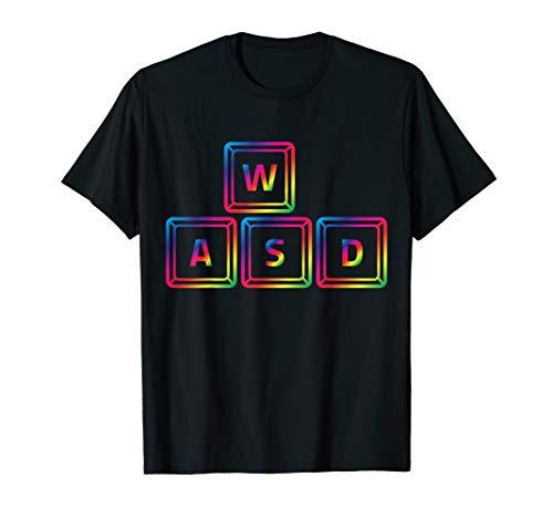 WASD Keyboard Moving Keys Cool Gaming Christmas Gift T-Shirt