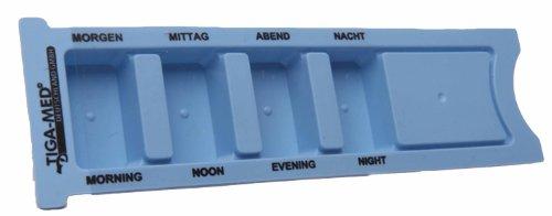 Tablettenbox Tag Medikamentendosierer 2er Set (=2Stück) Tagesdispenser Medikamentendispenser Pillendose Tablettendose Medikamentenspender