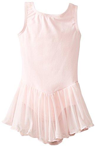 Clementine Apparel Girls' Little (2-7) Leotard Dress Sleeveless Tank One Piece Ballerina Top Dancewear Costume, Light Pink, 6X-7