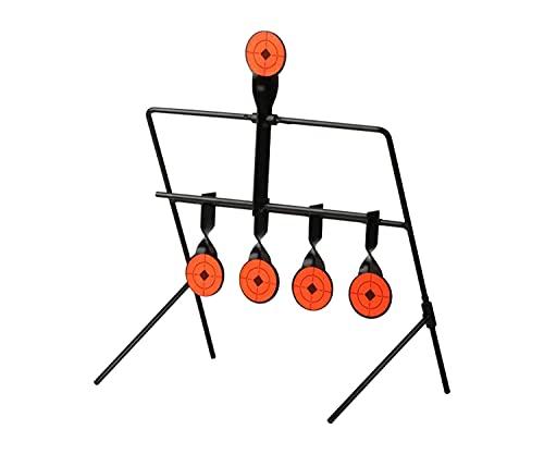 ARSUK Zielhalter Halterung BB Kugelfangkasten Automatischer Reset Rotator Trichter Ziele & Zubehör Metal für Schießen Schießübungen Softairwaffen und zielscheiben (Swing Target)