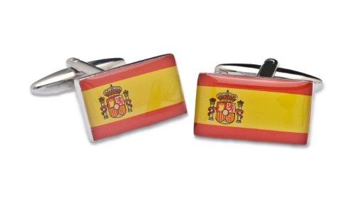 SoloGemelos - Gemelos Bandera De España - Rojo, Amarillo - Hombres - Talla Unica