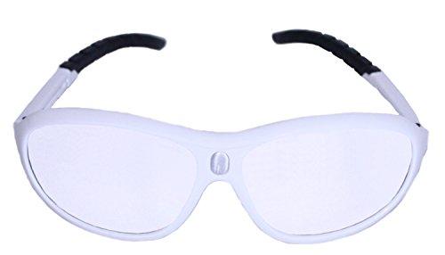 Python Prescription Adaptable Racquetball (Squash) Eye Protection, (Eyewear, Goggle, Eyeguard) - White