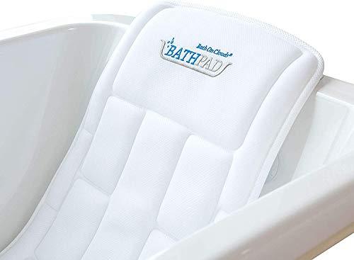 Bath On Clouds - BATHPAD - Deutschlands 1. Badewannenmatratze - Das Original - 125 cm x 45 cm x 3,5 cm hoch, 3D, weiß