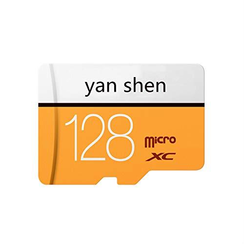 yan shen 128 GB Tarjeta de Memoria SD Micro SD Clase 10 SDXC para teléfonos Android