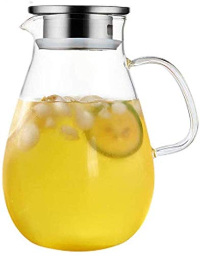 Teapot Teapot Crystal Glass Water Juice High Temperature Resistant Glass Large Capacity 2000ml Song