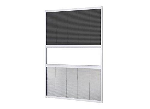 empasa Kombi Dachfenster Plissee Sonnenschutz Fliegengitter 'MASTER DUO' Alurahmen 110 x 160 cm