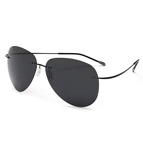 JUZEN Gafas de Sol polarizadas para Hombre Montura de Titani