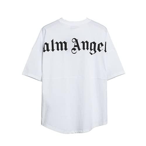 Herren und Damen T-Shirt Palm Angel Kurzarm Oberteile, Palm Angel T-Shirt Rundem Ausschnitt Locker Lässige Palm Angel Blusen Tops, Palm Angel Buchstaben Sommertops Kurze Ärmel Mode Bluse