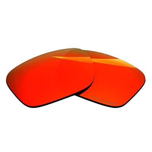 BlazerBuck Lentes de repuesto polarizadas antisal para Oakley Holbrook XL OO9417, Rojo (Fire Red Polarized),
