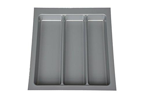 von stauraum-shop Mehrzweckeinsatz 50er Schubladeneinsatz zuschneidbar 440 x 490mm, 3 Fächer, Made in Germany