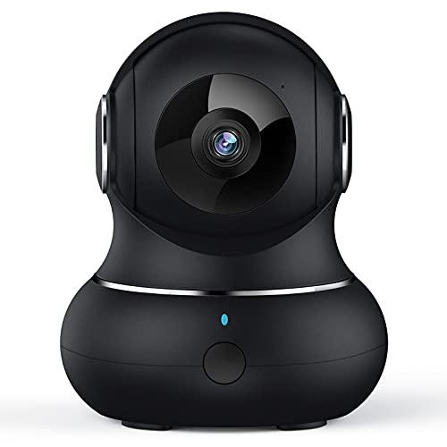 [2021 Neu] Überwachungskamera, Crzwok 1080P WLAN IP Kamera mit Bewegungserkennung, Nachtsicht, Zwei-Wege-Audio, Hunde Kamera mit App, Babyphone mit Kamera 360 Grad Schwenkbare, Kompatibel mit Alexa