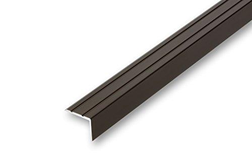 (7,61€/m) Treppenwinkel 20 x 25 x 1180 mm bronze selbstklebend Treppen-Kantenprofil Stufen-Profil Alu-Winkel-Profil Kantenschutzprofil glatt Stufenprofil (1180 mm selbstklebend, bronze)