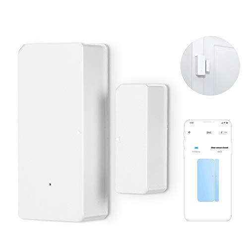 KKmoon DW2 WiFi Sensor inalámbrico de puerta y ventana con notificación telefónica Sistema de seguridad del hogar con Sensor de movimiento Sistema de alarma antirrobo con aplicación eWelink