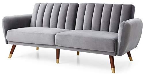 Glory Furniture Siena , Gray Sofa Bed, 34' H X 83' W X 35' D