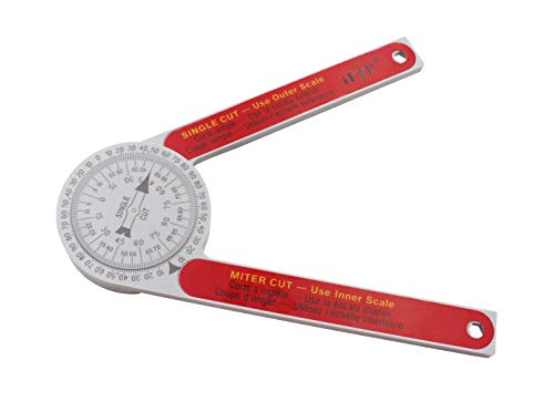Miter Saw Protractor Angle Measuring Transfer Rule replace for the #505P-7 Protractor for Miter Cuts, Plumbers, Carpenters Plastic Red