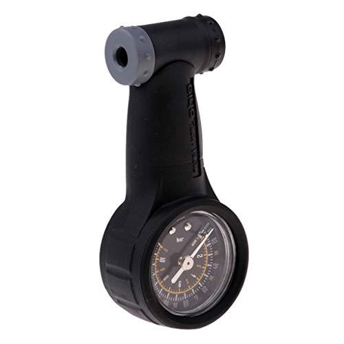 perfeclan Fahrrad Reifendruckprüfer Reifendruck Messgerät Luft Druckmesser 160Psi für MTB Mountainbike Rennrad