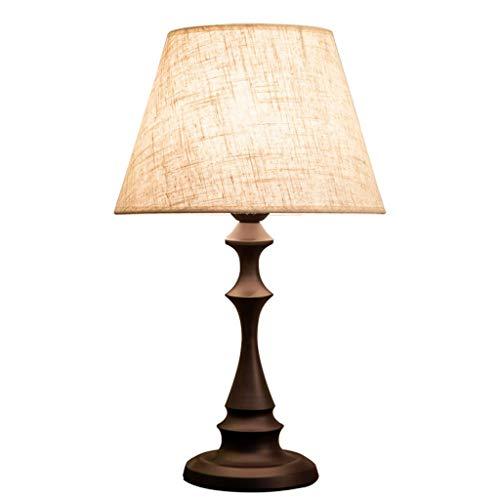 STERB Lado Mesita de luz de lámpara de escritorio, la base tradicional de madera elegante, tono neutro, suave luz ambiental for el dormitorio mesita de noche, la sala de estar de la lámpara de oficina