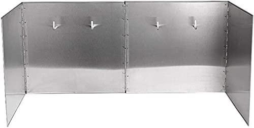 FANNISS Splatter Screens Kitchen Range Hood Wall Shield Stainless Steel Foldable Splatter Screens Kitchen Foil Splatter Screens Oil Splash Guard Splash guard