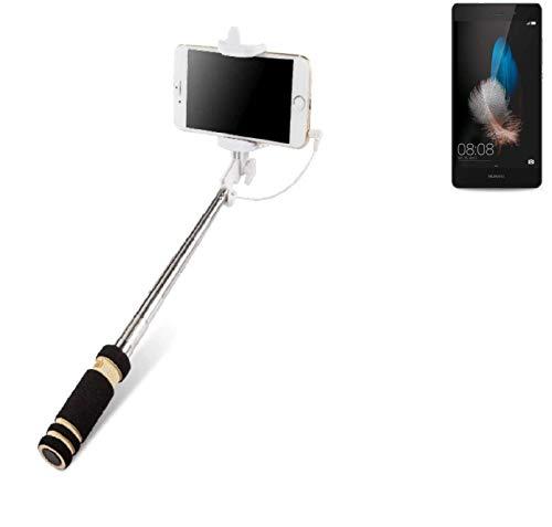 Selfie Stick per Huawei P8 Lite, nero, Monopiede, asta telescopica, Autoritratto