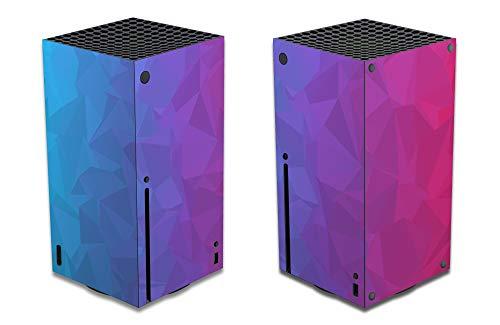 AGA Gaming Skin für Xbox Series X, Design Folie Aufkleber Sticker Schutzfolie, Kompatibles Zubehör für ihre Microsoft Spielekonsole (Series X, Geometrie)